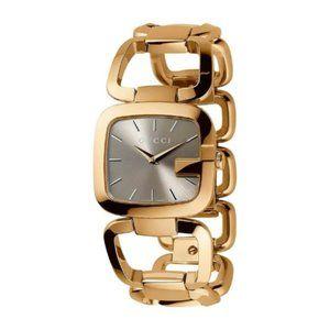 Gucci GG SWISS Quartz Gold Tone Watch Bracelet